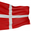 Royalty-Free Stock Photo: 3D Danish flag