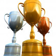 Royalty-Free Stock Photo: Three trophies
