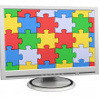 Puzzle Monitor - Stock Photo