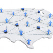 Royalty-Free Stock Photo: USA Networking Map