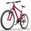 Bicycle isolated over white - Stockfoto