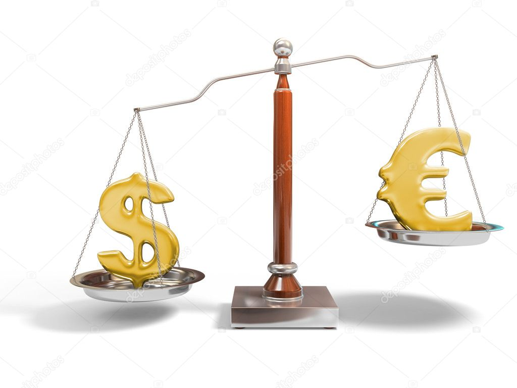 3d image of justice scale on white — Stock Photo #1850099