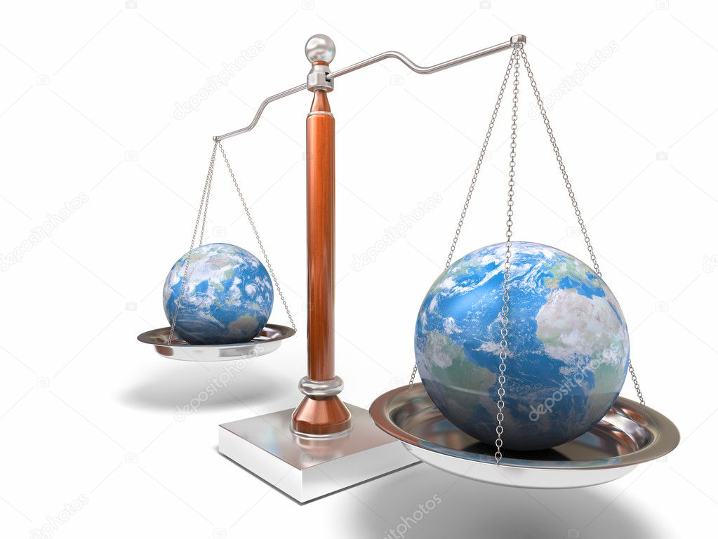 3d image of balance scale on white — Stock Photo #1850208