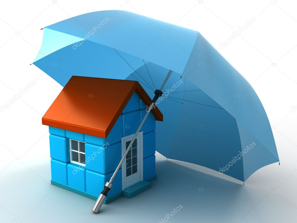 3d image of house. White background. — Stock Photo #1857166