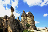 Stone pillars in Cappadocia — Stock Photo
