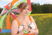 Bright umbrella — Stock Photo