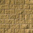 Wall from decorative bricks — Stock Photo