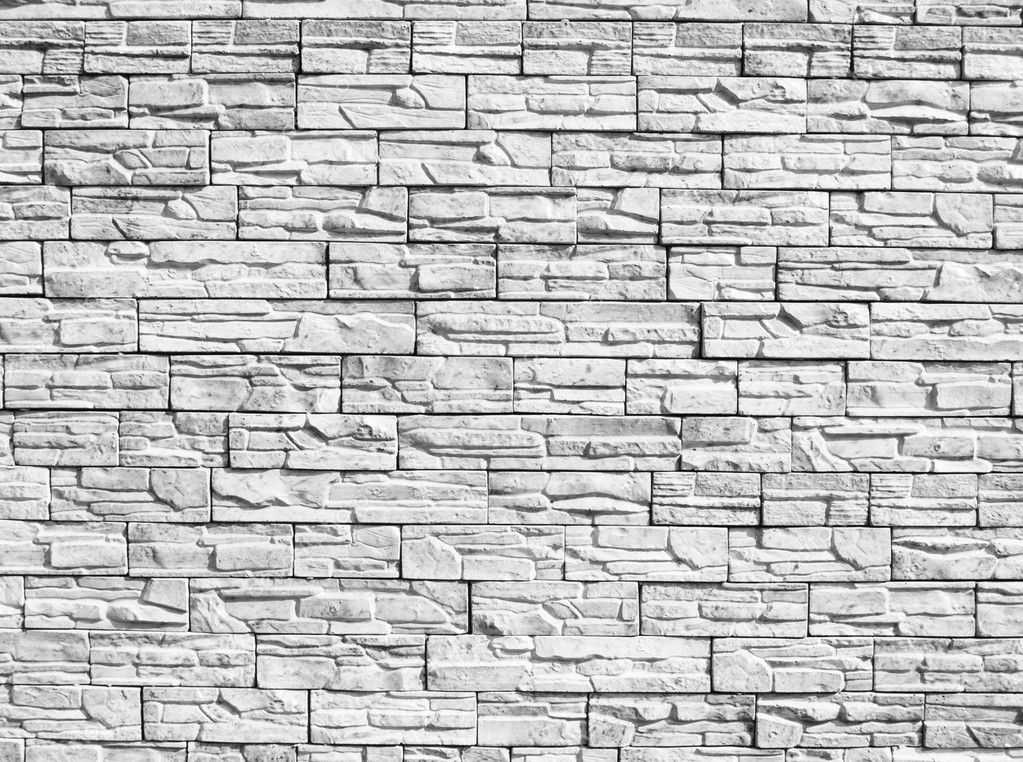 Monochrome decorative stone wall for a background  Stock Photo #2015494