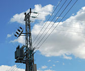 Overhead power line — Stock Photo