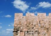 La pared de la vieja ciudad de Jerusalén — Foto de Stock
