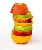 Pieces of apples and orange — Stock Photo