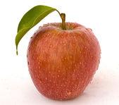 Apple im wassertropfen — Stockfoto