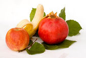 Fruits on leaves — Stock Photo