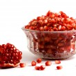 Stock Photo: Goblet full of pomegranate arils