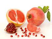 Granaatappel en grapefruit — Stockfoto