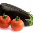 Eggplant and tomatoes - Stock Photo