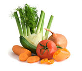 Vegetables isolated on white background — Stock Photo