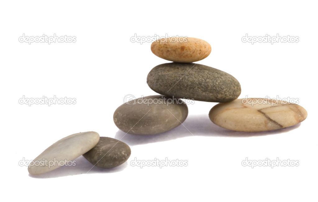Pebbles isolated on white background  Stock Photo #1861710
