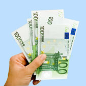 Hand with euro — Stock Photo
