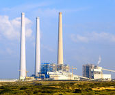 Un fossile fueled power station — Foto Stock