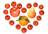 Composition consisting of tomatoes — Stock Photo