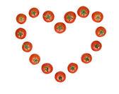 トマトから引き出される心 — ストック写真