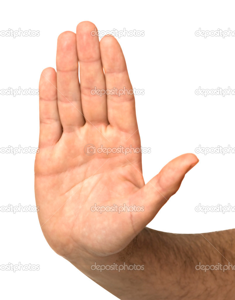 Hand showing stop sign — Stock Photo #1995280