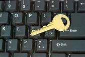 Klávesy na klávesnici — Stock fotografie