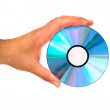 Hand holding compact disc — Stock Photo
