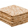 Close up of pile of matzo (matzah) — Stock Photo #2649536