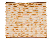 Close up of square matza — Stock Photo