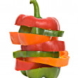 Longitudinal sections of peppers - Stock Photo