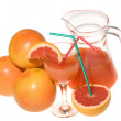 Fresh grapefruit juice — Stock Photo