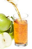 Apple juice with green apples — Stock Photo