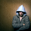 Man in a hood - Stock Photo