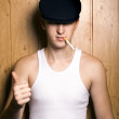 Smoking man - Stock Photo