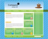 Web site interface — Stock Vector