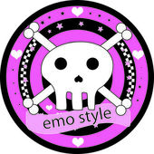 Emo logo — Stock Vector