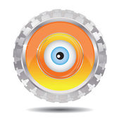 Mechanical eye — Stock Vector