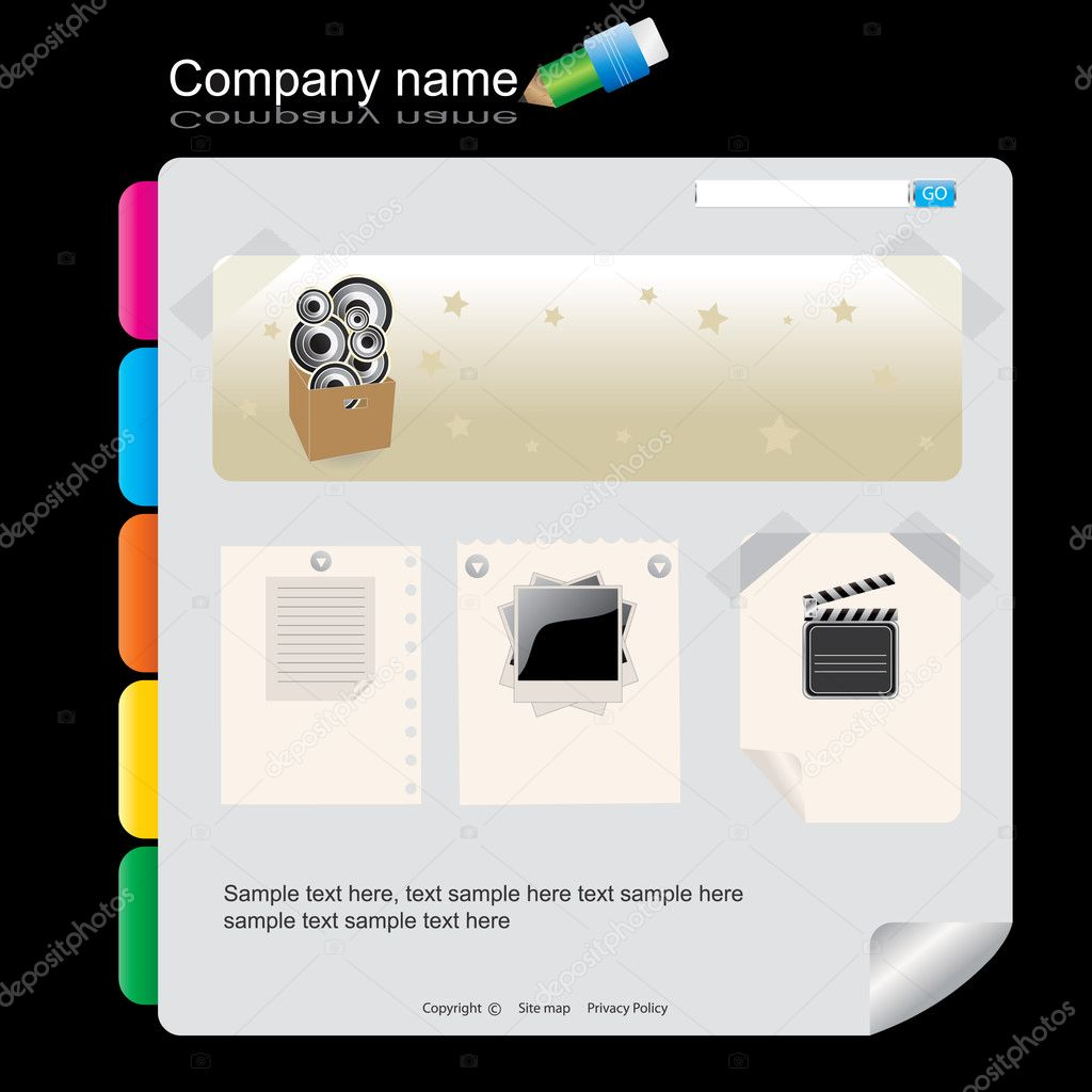 Web site design template, easy to use — Stock Vector #2430250