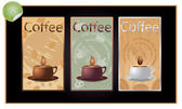 Set of coffee banners (vector) — Stockvektor
