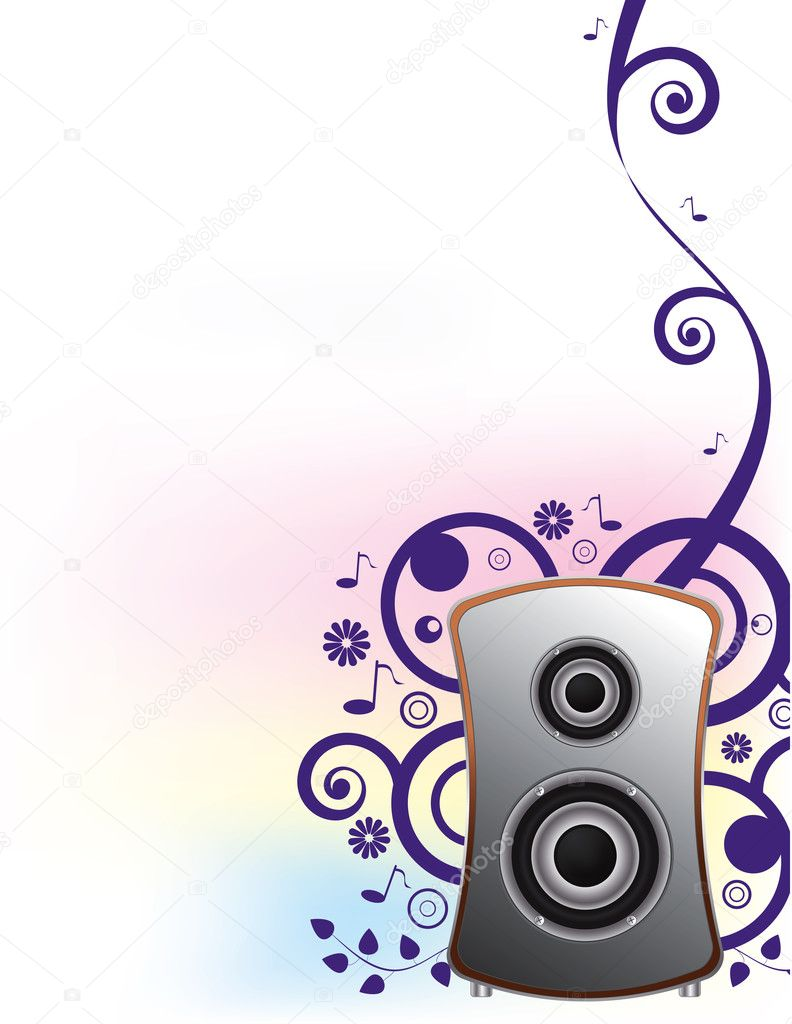 Abstract music background for party blank,vector — Stock Vector #2562824
