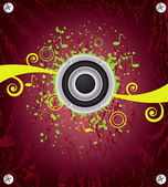 Music abstract background, vector — Stock Vector