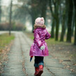 Little girl running - Foto Stock
