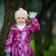 Girl near tree — Stock Photo #1890818