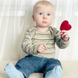 Little boy with heart — Stock Photo