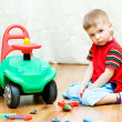 Little boy can't repair auto — Stock Photo