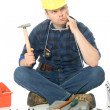 Stock Photo: Lost handyman