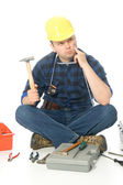 Lost handyman — Stock Photo