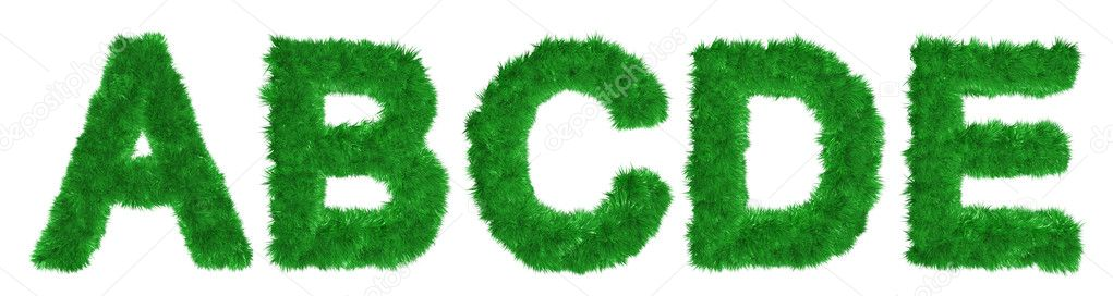 Alphabet of lush green grass — Stock Photo #1815337